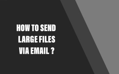 How to send large files via email ?